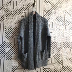 American Eagle Grey Long Cardigan